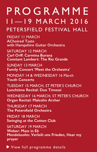 Petersfield Musical Festival Programme 2016