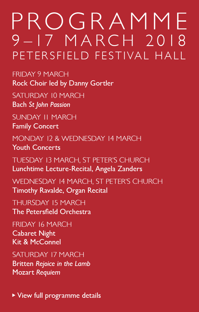 Petersfield Musical Festival 2018 Programme