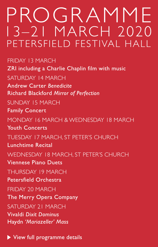 Petersfield Musical Festival 2020 Programme
